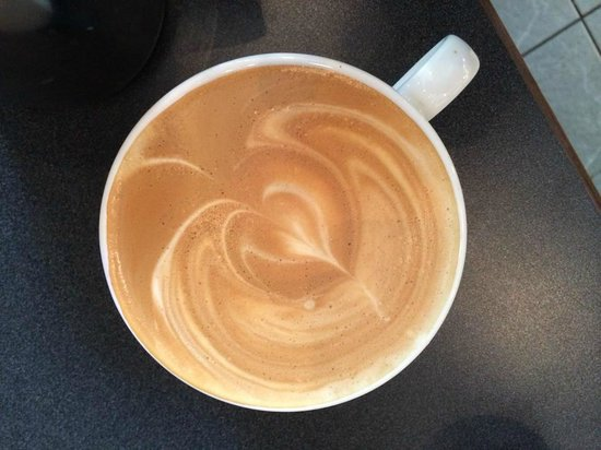 Seattle By Foot: Latte heart at Caffe D'arte