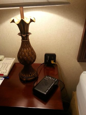 Holiday Inn Express Paramus: Had to plug the lamp in here in order to make it work.