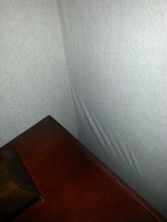 Holiday Inn Express Paramus: Close up on wall paper warping