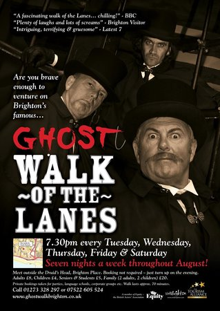 Ghost Walk of the Lanes: BRIGHTON WALKS INC.Promotional poster