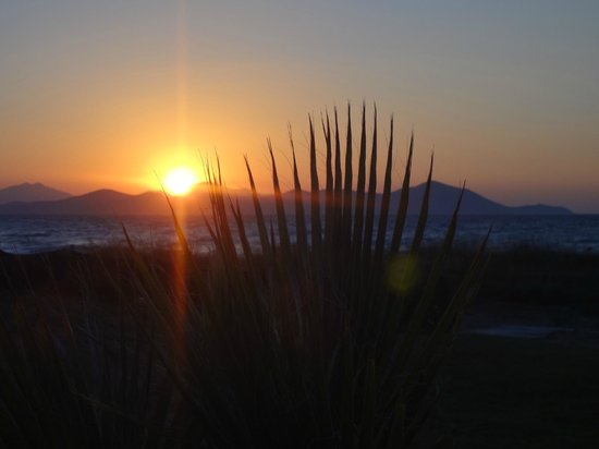 Astir Odysseus Resort & Spa: coucher de soleil depuis de restaurant italien
