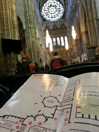 Westminster Abbey: view from inside the abbey