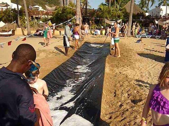 Club Med Ixtapa Pacific: Kids slippery slide.