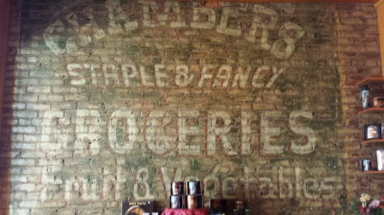 True Grit Cafe: Historical wall.