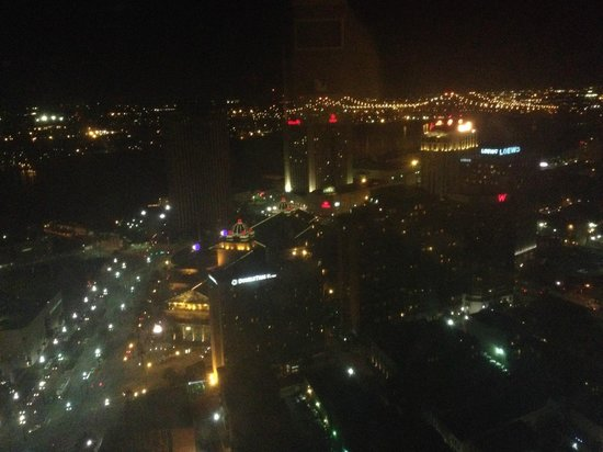 Sheraton New Orleans Hotel: View from 45th floor of the Mississippi River
