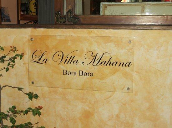 La Villa Mahana: Restaurant