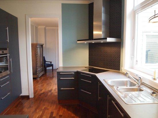 Almenningen Guesthouse and Apartments: Kitchen