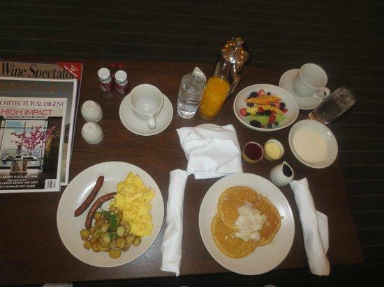 Meadowood Napa Valley: In room dining: breakfast