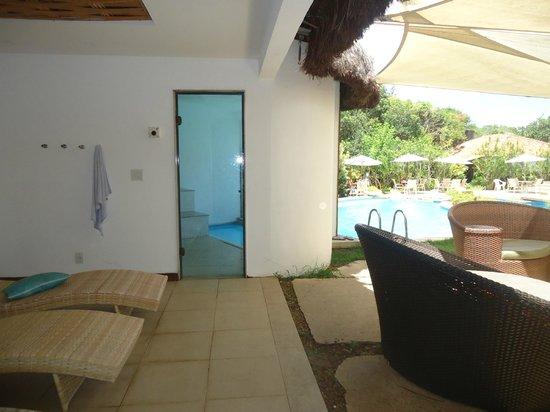 Corais e Conchas: Entrada da sauna.