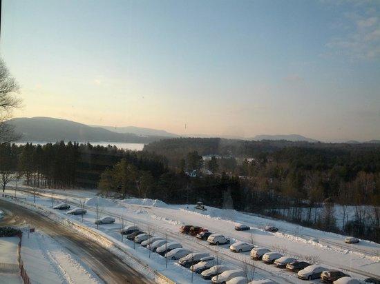 Kripalu Center for Yoga & Health : View of Stockbridge lake (behind parking lot)
