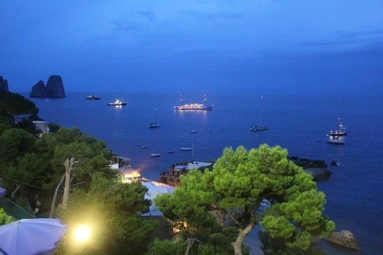 Hotel Weber Ambassador Capri: Weber di notte