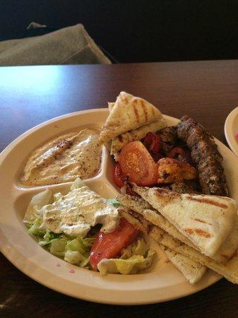Sahara Cafe : Kabob Sampler Plate