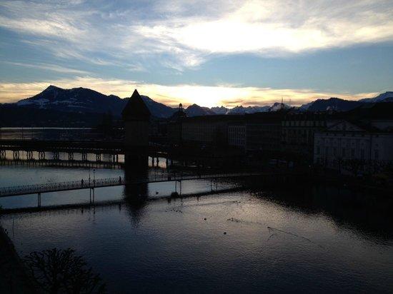Hotel des Balances : Aussicht vom Zimmer