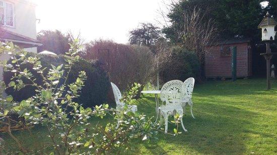 Hillside B&B: nice garden