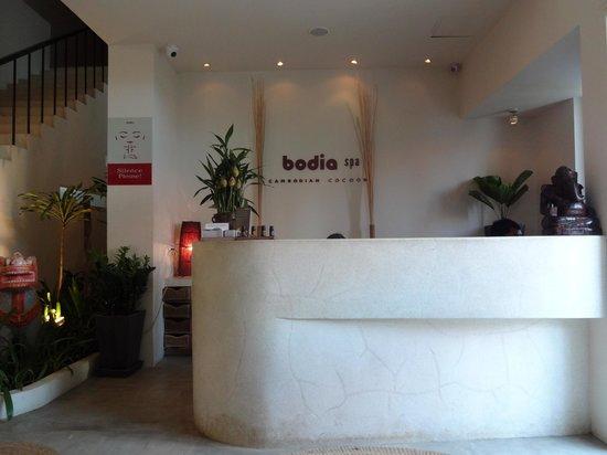 Bodia Spa Siem Reap : The front desk area at Bodia Spa