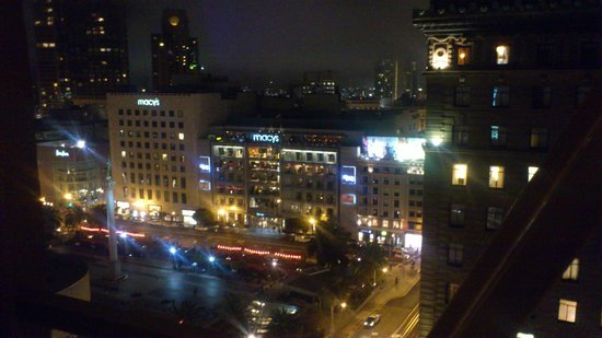 Chancellor Hotel on Union Square: View from my 13th floor room with a view to Union Square