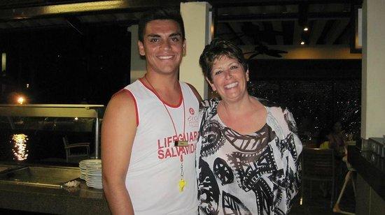 El Cid Marina Beach Hotel: Me & Saul at the Iguana Pool