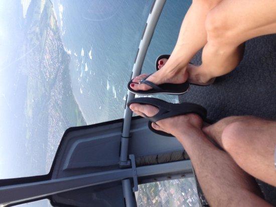 Sunshine Helicopters Maui: Mr and Mrs Feet! ,-)