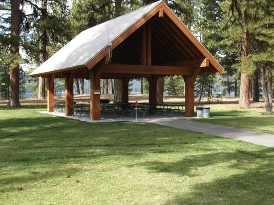 Ponderosa State Park: Reservable Day Use Shelter by the Visitor Center.