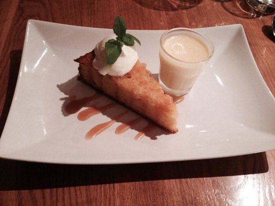 81 Beach Street: Lemon polenta cake with mascarpone