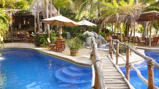 Playa Escondida: Pool and restaurant, all in one, which can be a bit weird.