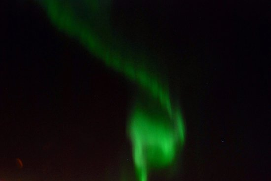 Clarion Collection Hotel With: Northern lights took from hotel's outside lounge