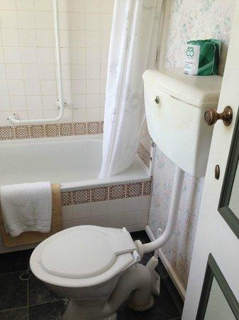 Waitomo Caves Hotel: ancient bathroom