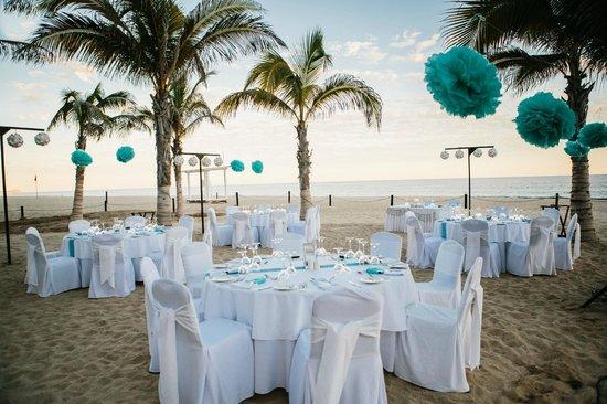 Hyatt Ziva Los Cabos Wedding Reception On The Beach