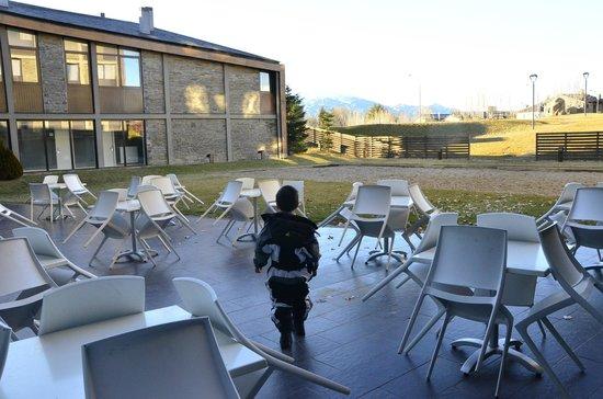 Campus Cerdanya : Terraza exterior