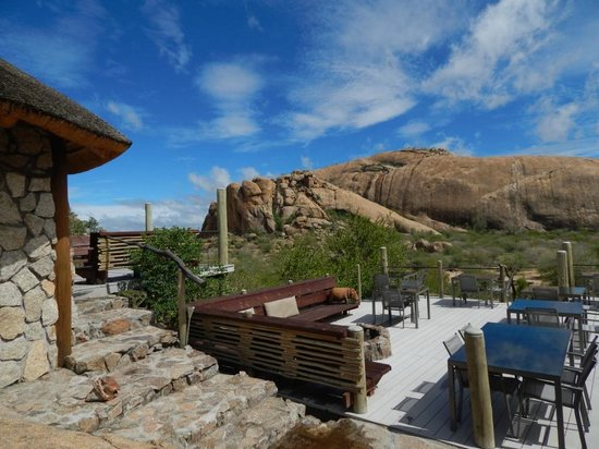 Erongo Wilderness Lodge: Outside Seating Area