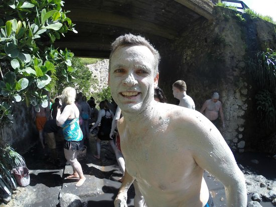 Sandals Grande St. Lucian Spa & Beach Resort: This is me with the white mud in sulfur bath