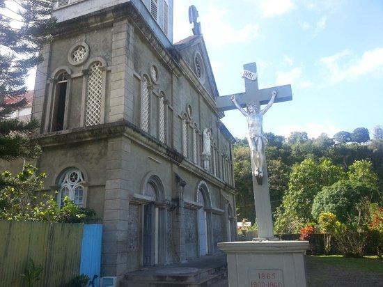 Sandals Grande St. Lucian Spa & Beach Resort: Catholic church on the bay in Rain Forest