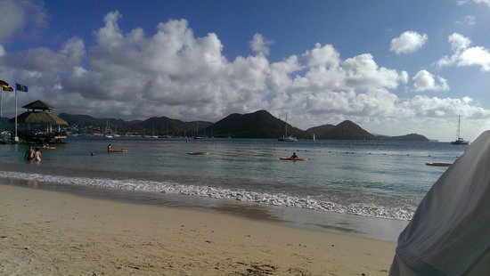 Sandals Grande St. Lucian Spa & Beach Resort: View of the beach standing on the beach.