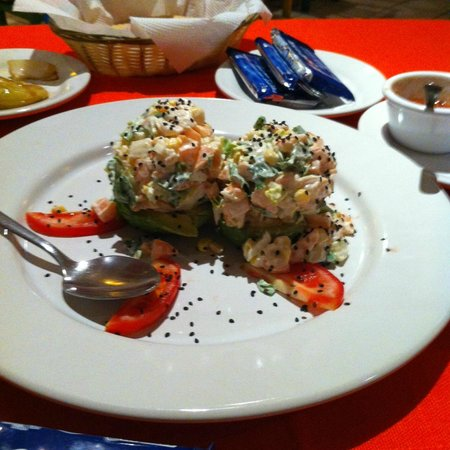 Los Arcos: The Stuffed Avocado appetizer