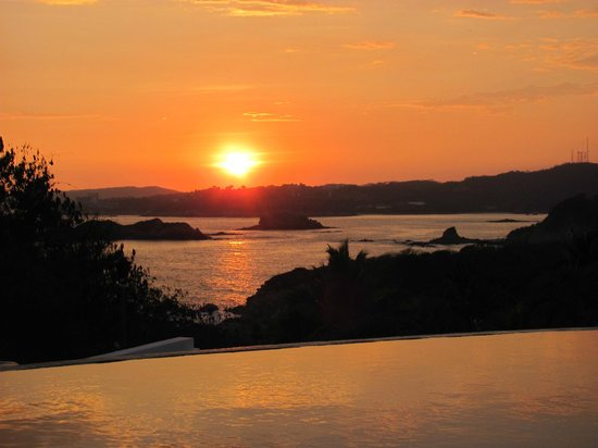 Sunset view from Villa Sol y Mar