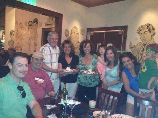 Delmonico's Italian Steakhouse : Family celebration at Delmonico's