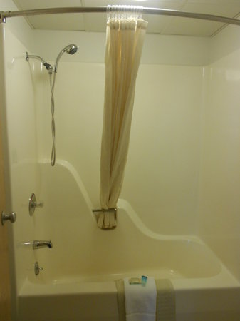 The Brick House Hotel: Standard room tub/shower combo