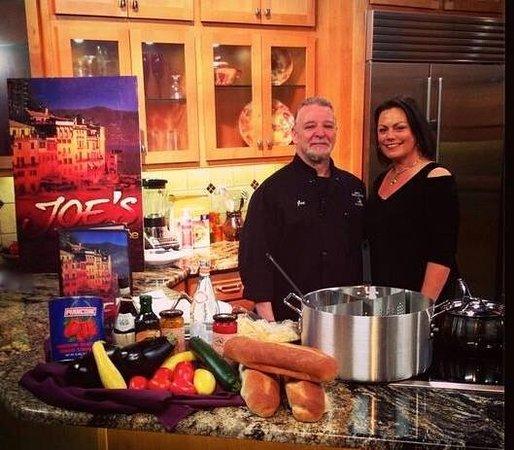 Joe's Pasta House : Joe & KC Guzzardi on set of 2 KASA Style