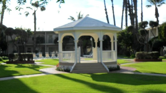 Best Western Golden Sails Hotel View Of Gazebo From Our Patio Room