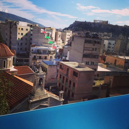 Arion Athens Hotel: View from the balcony