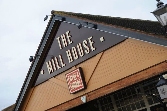 The Mill House: Front signage