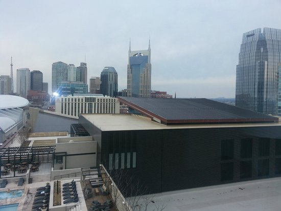Omni Nashville Hotel: Batman building from room