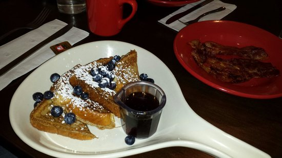 Stacy's Kitchen: French toast with powdered sugar and applewood smoked bacon