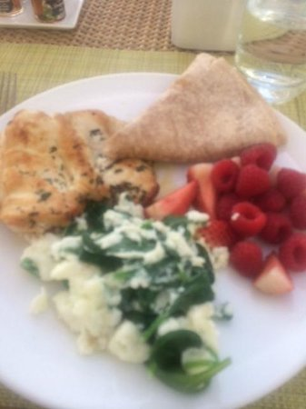 "Carbon Beach Club Restaurant: A little blurry but delicious ""Protein Breakfast"""