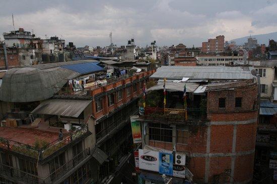 Hotel Access Nepal : Blick von der Dachterasse