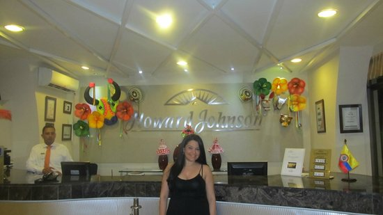 Howard Johnson Hotel Versalles Barranquilla : Vista de la recepción!