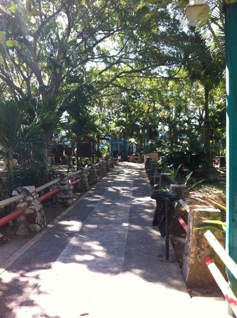 Acuario Mazatlan: Walkway through the outdoor space