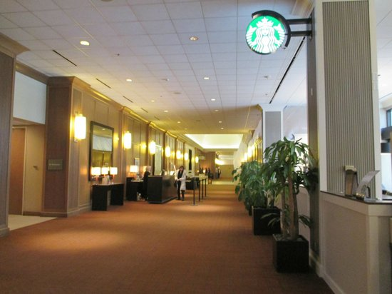 The Westin O'Hare: The front desk in the hallway
