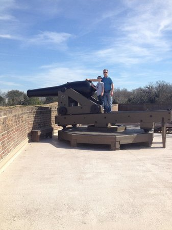 Old Fort Jackson : Top of Fort Jackson