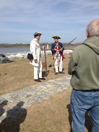 Old Fort Jackson: Our very informative demonstrators.